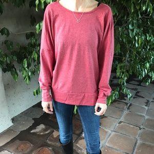 NWOT Solid Casual Sweatshirt! Cross back sexy top!